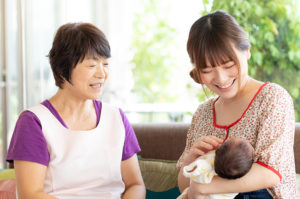 主役はお母さんと赤ちゃんです